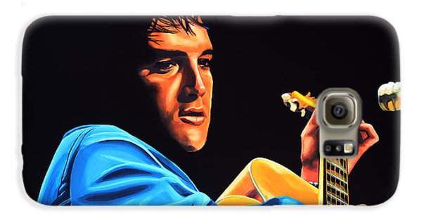 Rhythm And Blues Galaxy S6 Case - Elvis Presley 2 Painting by Paul Meijering