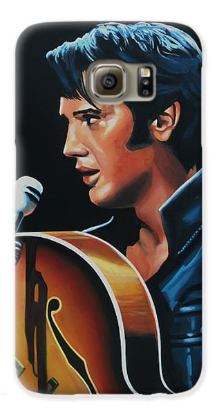 Rhythm And Blues Galaxy S6 Case - Elvis Presley 3 Painting by Paul Meijering