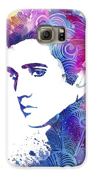 Elvis Presley Galaxy S6 Case by Watercolor Girl