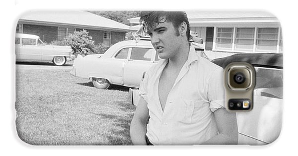 Elvis Presley With His Cadillacs Galaxy S6 Case by The Harrington Collection
