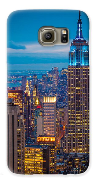 Empire State Blue Night Galaxy S6 Case by Inge Johnsson
