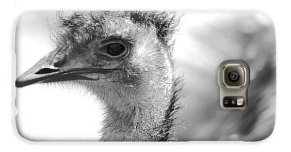 Emu - Black And White Galaxy S6 Case by Carol Groenen