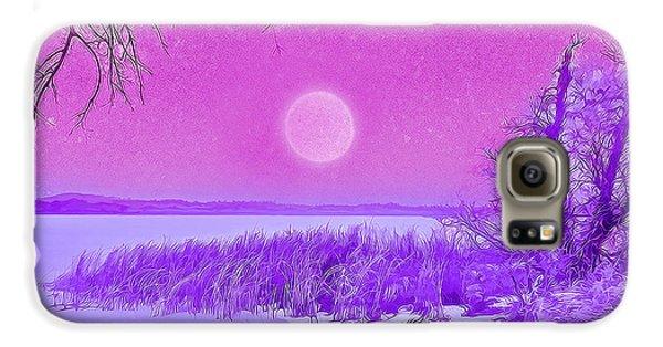 Rosy Hued Moonlit Lake - Boulder County Colorado Galaxy S6 Case by Joel Bruce Wallach