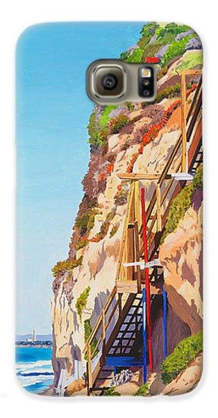 Seagull Galaxy S6 Case - Encinitas Beach Cliffs by Mary Helmreich