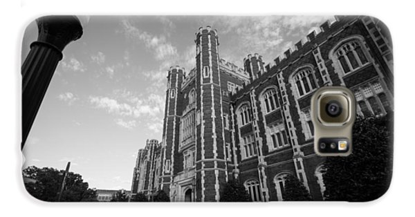 Evans Hall In Black And White Galaxy S6 Case by Nathan Hillis