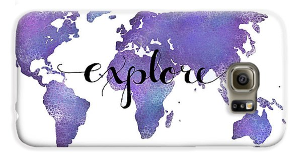 Travel Galaxy S6 Case - Explore World Map Painting by Michelle Eshleman