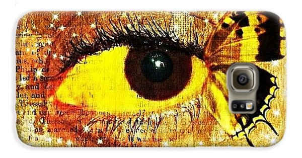 Edit Galaxy S6 Case - #eye #butterfly #brown #black #edit by Tatyanna Spears