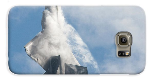 Galaxy S6 Case featuring the photograph F-22 Raptor Creates Its Own Cloud Camouflage by Nathan Rupert