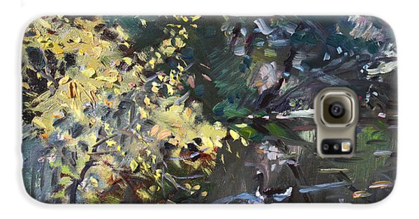 Goose Galaxy S6 Case - Fall By The Pond by Ylli Haruni