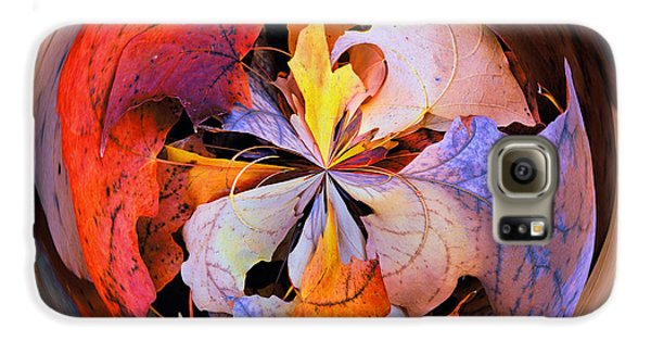 Fall Leaves Orb Galaxy S6 Case by Bill Barber