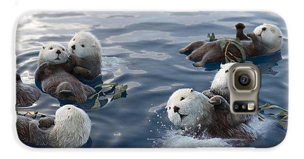 Otter Galaxy S6 Case - Family Fun by Gary Hanna