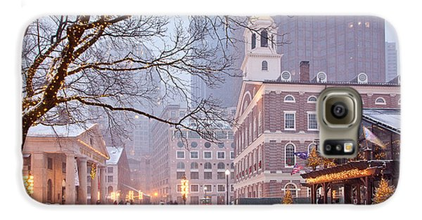 Faneuil Hall In Snow Galaxy S6 Case