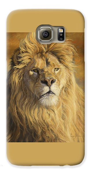 Lion Galaxy S6 Case - Fearless - Detail by Lucie Bilodeau
