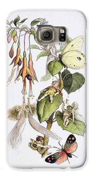 Feasting And Fun Among The Fuschias Galaxy S6 Case by Richard Doyle