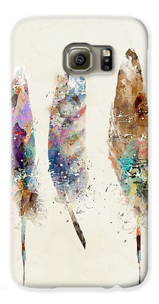 Feathers Galaxy S6 Case by Bri B