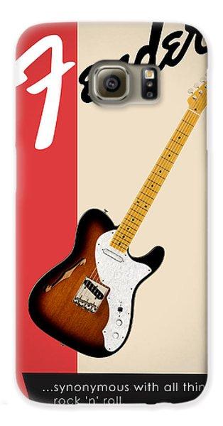 Guitar Galaxy S6 Case - Fender All Things Rock N Roll by Mark Rogan