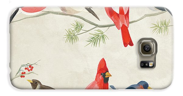 Festive Birds I Galaxy S6 Case by Danhui Nai