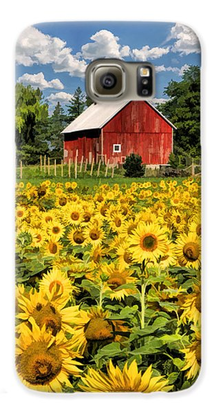 Field Of Sunflowers Galaxy S6 Case