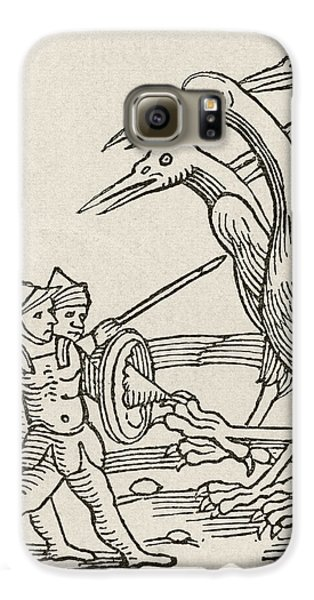 Fight Between Pygmies And Cranes. A Story From Greek Mythology Galaxy S6 Case by English School
