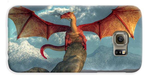 Fire Dragon Galaxy S6 Case by Daniel Eskridge