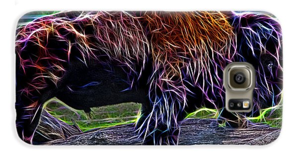 Fire Of A Bison  Galaxy S6 Case by Miroslava Jurcik