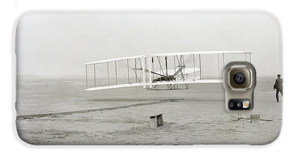 Airplanes Galaxy S6 Case - First Flight Captured On Glass Negative - 1903 by Daniel Hagerman