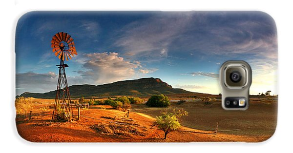 Landscapes Galaxy S6 Case - First Light On Wilpena Pound by Bill  Robinson