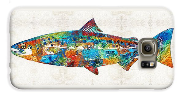 Fish Art Print - Colorful Salmon - By Sharon Cummings Galaxy S6 Case