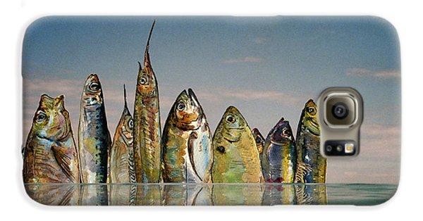 Goldfish Galaxy S6 Case - Fishhattan by Juan  Bosco