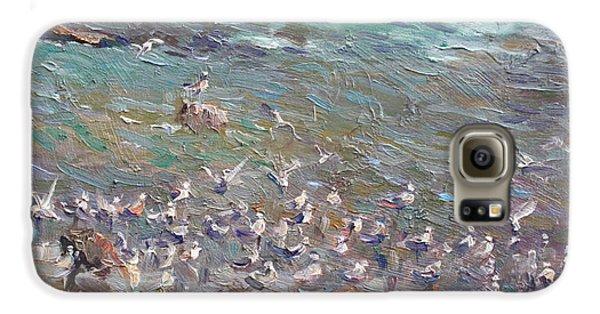 Seagull Galaxy S6 Case - Fishing Time by Ylli Haruni