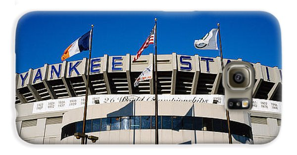 Flags In Front Of A Stadium, Yankee Galaxy S6 Case by Panoramic Images