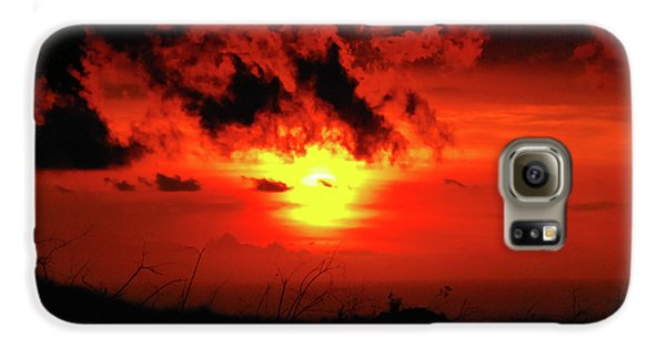 Flaming Sunset Galaxy S6 Case