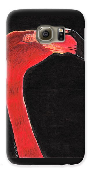 Flamingo Art By Sharon Cummings Galaxy S6 Case by Sharon Cummings