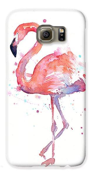 Galaxy S6 Case - Flamingo Watercolor by Olga Shvartsur