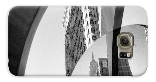 Galaxy S6 Case featuring the photograph Flat Iron Building Empire State Mirror by Dave Beckerman