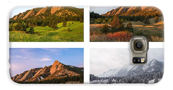 Flatirons Four Seasons With Border Galaxy S6 Case