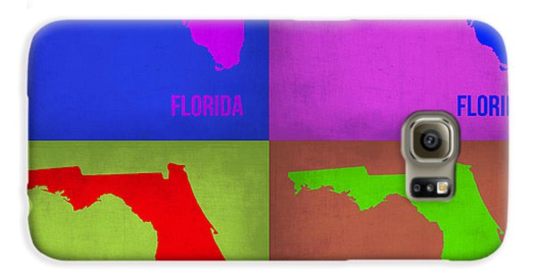 Florida Pop Art Map 1 Galaxy S6 Case by Naxart Studio