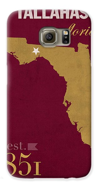 Florida State University Seminoles Tallahassee Florida Town State Map Poster Series No 039 Galaxy S6 Case by Design Turnpike