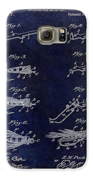 1922 Fly Fishing Lure Blue Galaxy S6 Case