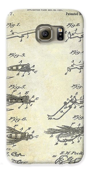 1922 Fly Fishing Lure Patent Drawing Galaxy S6 Case