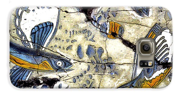 Bogdanoff Galaxy S6 Case - Flying Fish No. 3 - Study No. 2 by Steve Bogdanoff