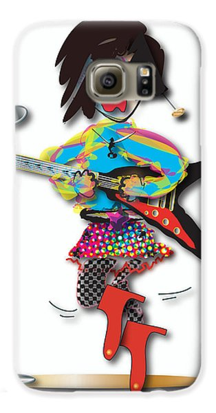 Flying V Girl Galaxy S6 Case by Marvin Blaine