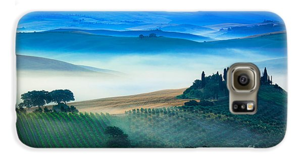 Fog In Tuscan Valley Galaxy S6 Case by Inge Johnsson