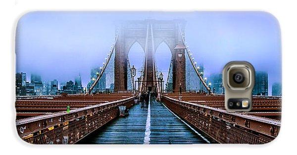 Brooklyn Bridge Galaxy S6 Case - Fog Over The Brooklyn by Az Jackson