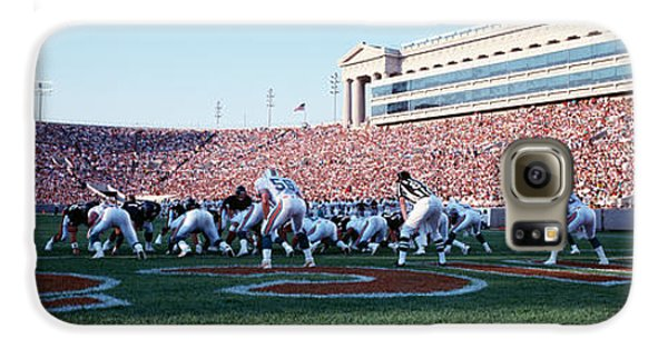Football Game, Soldier Field, Chicago Galaxy S6 Case by Panoramic Images