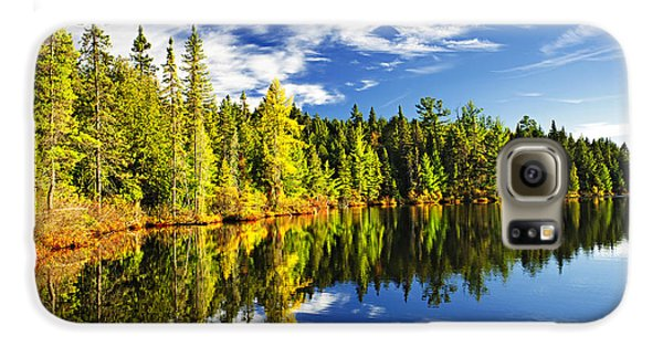Landscape Galaxy S6 Case - Forest Reflecting In Lake by Elena Elisseeva