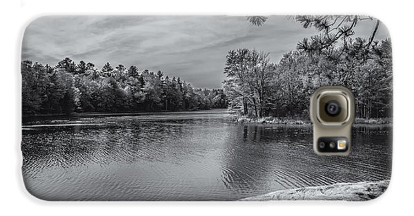 Fork In River Bw Galaxy S6 Case by Mark Myhaver