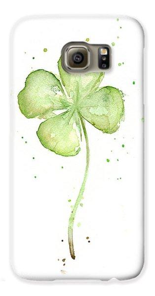 Four Leaf Clover Lucky Charm Galaxy S6 Case by Olga Shvartsur
