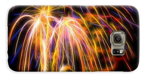 Galaxy S6 Case featuring the photograph Colorful Fractal Fireworks #1 by Yulia Kazansky