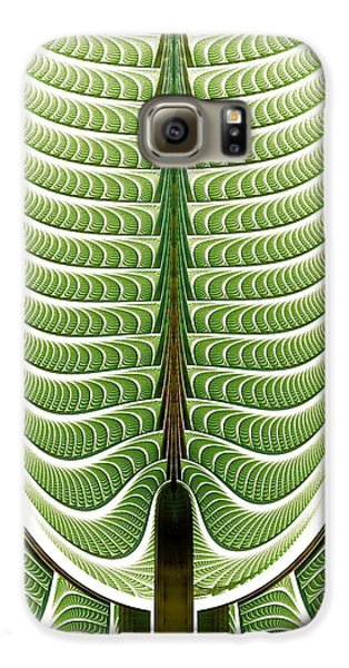 Galaxy S6 Case featuring the digital art Fractal Pine by Anastasiya Malakhova
